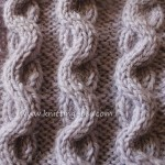 Free wave cable stitch pattern