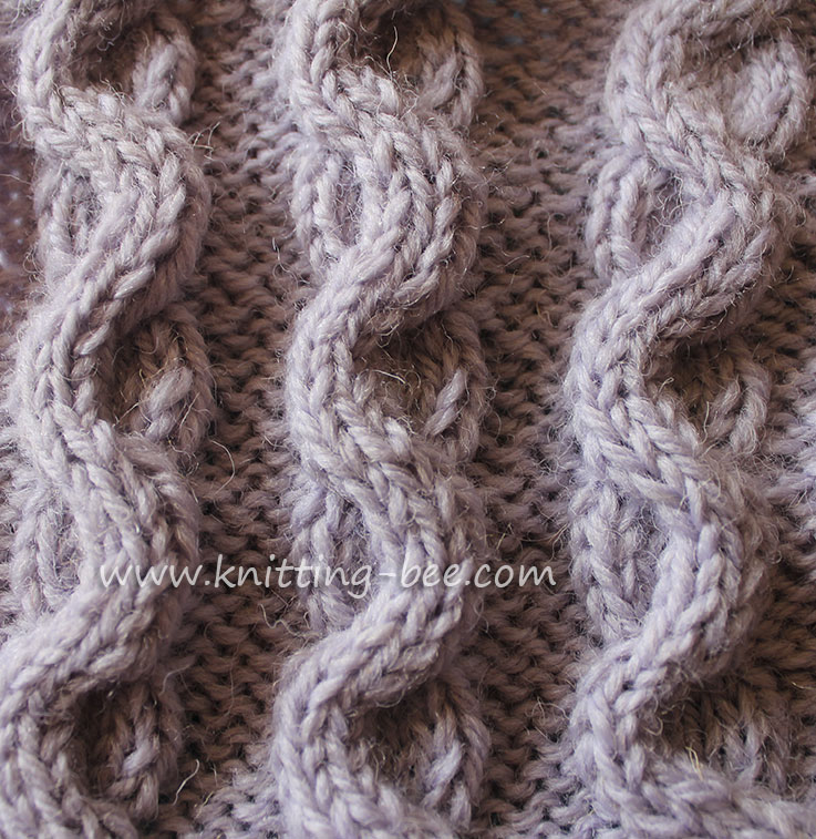 c664fecd0 Wave Cable aka Snake Cable · Free wave cable stitch pattern