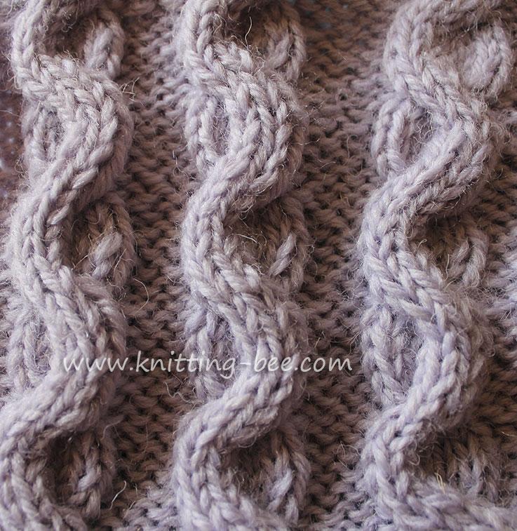 Wave Cable Snake Stitch Pattern 3 Knitting Bee