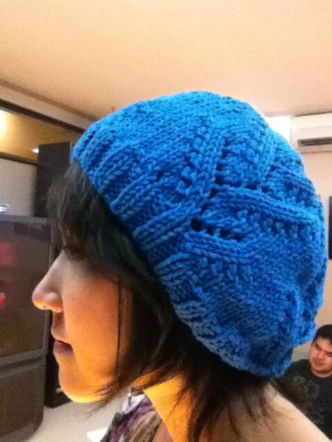 free lace hat knitting pattern