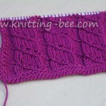 diagonal lace stripe knitting stitch