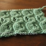 Free Eyelet Cable Knitting Stitch