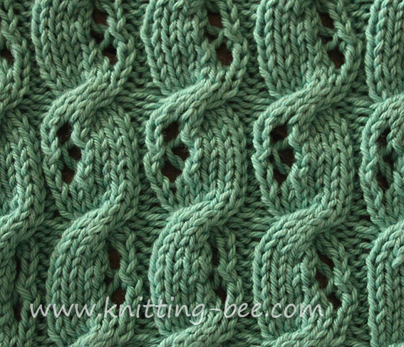 Free Eyelet Cable Knitting Stitch