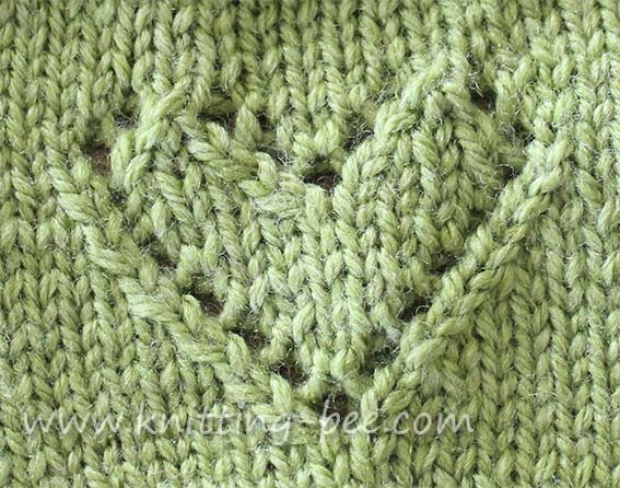 Crochet Knit Stitch Instructions : Lace Heart Motif Knitting Pattern ? Knitting Bee