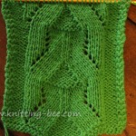 Eyelet Pyramid Knit stitch