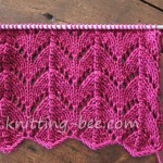 Free Horseshoe Lace Knitting Stitch pattern
