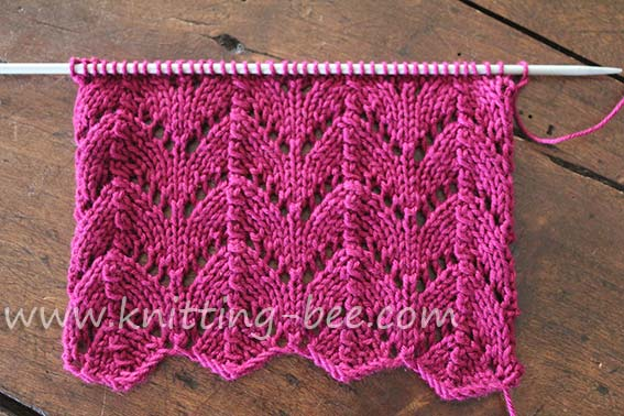 Horseshoe Lace Knitting Stitch