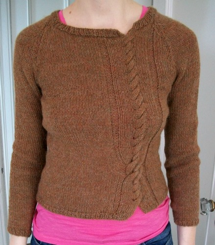 Twisted Sweater Pattern Knitting Bee