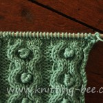 Circle and Bobble Knit Stitch