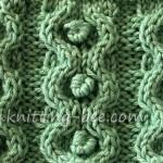 Circle and Bobble Knit Stitch