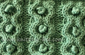 Bobbles-in-circles-cable-knitting-stitch ? Knitting Bee