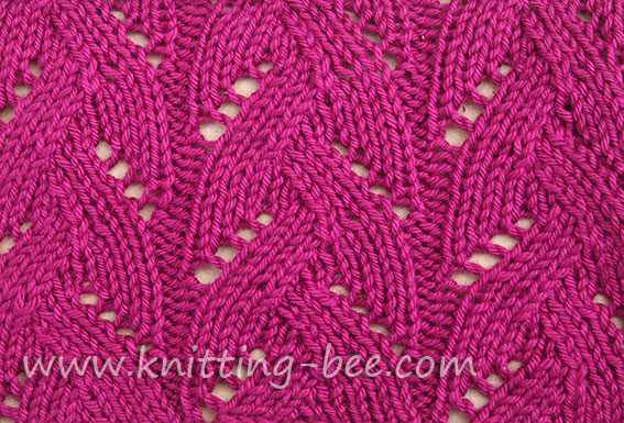 Braided Lace Stitch Pattern ⋆ Knitting Bee