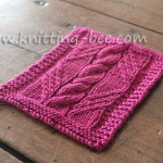 Free Cable in a Diamond Knitting Pattern Panel