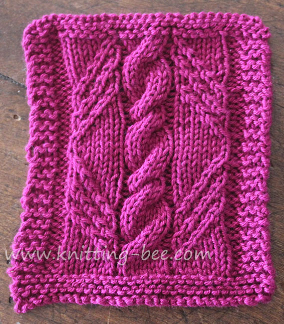 Knitting Patterns Free : cable in a diamond knitting panel pattern ? Knitting Bee