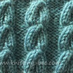 Free Chain Cable Knitting Stitch.