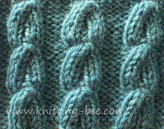 Chain Cable Knitting Stitch Pattern ⋆ Knitting Bee