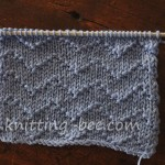 Free Chevron Zig Zag Lines Knitting Stitch pattern.