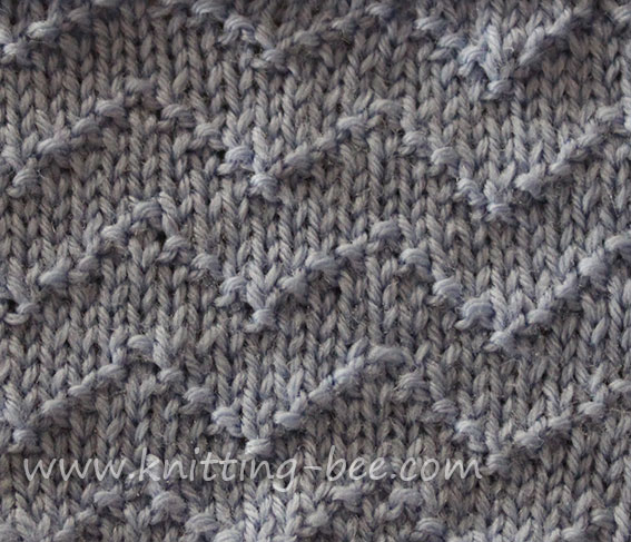 Chevron Zig Zag Lines Knitting Stitch Knitting Bee