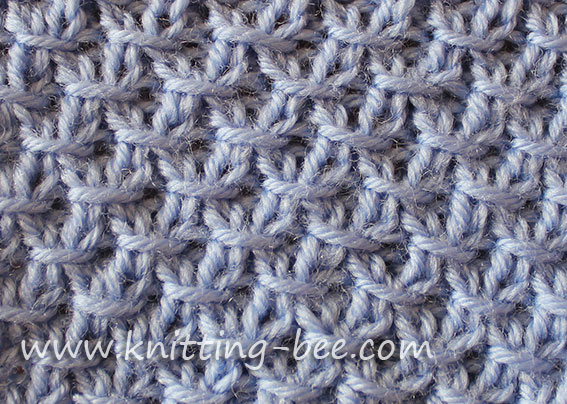 Free Diagonal Cross Stitch Knitting Pattern.