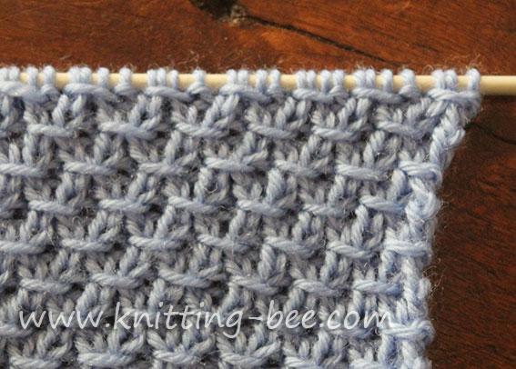 Diagonal Cross Stitch Knitting Pattern Knitting Bee