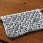 Diagonal Cross Stitch Knitting Pattern
