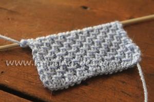 Diagonal Cross Stitch Knitting Pattern