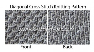 Free Diagonal Cross Stitch Knitting Pattern.