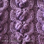 Bobbled Cable Knitting Stitch
