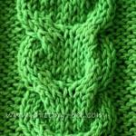 Free link cable knitting stitch pattern