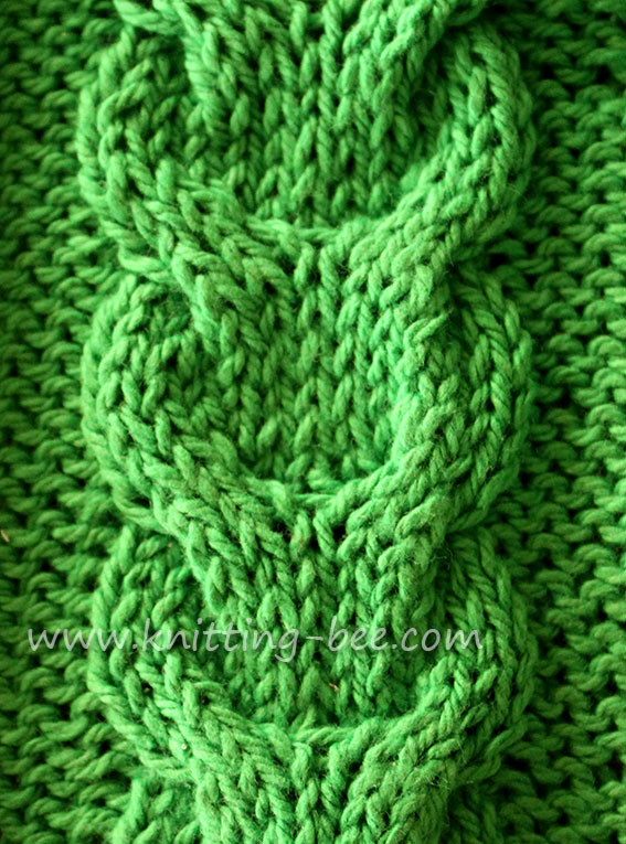 Link Cable Knitting Stitch ⋆ Knitting Bee