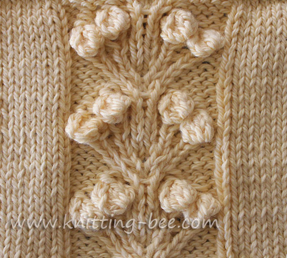 Knitted Cable Stitch Knitting Bee