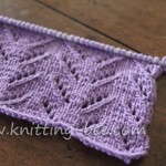 Simple Chevron Lace Knit Stitch