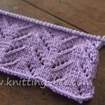 Simple Chevron Lace Knit Stitch