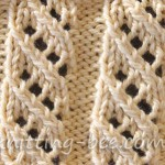 Free Oblique Openwork Rib Stitch knitting pattern