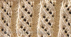 Free Oblique Openwork Rib Stitch knitting pattern