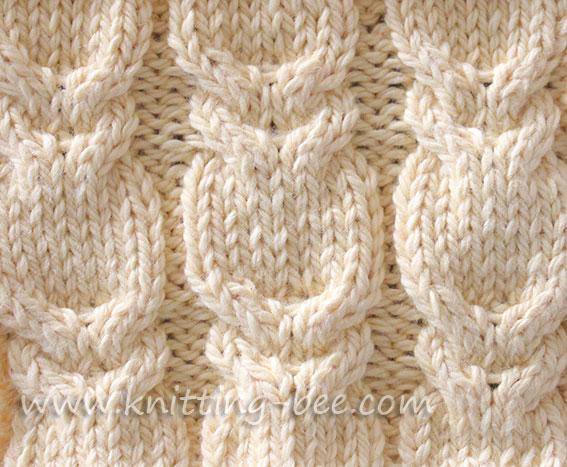 Branch Cable Stitch Knitting Bee