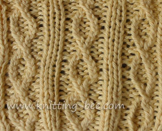 Figure 8 Rib Knit Stitch Pattern