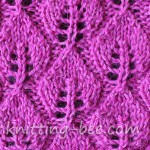 Leaves of Lace free knitting stitch pattern