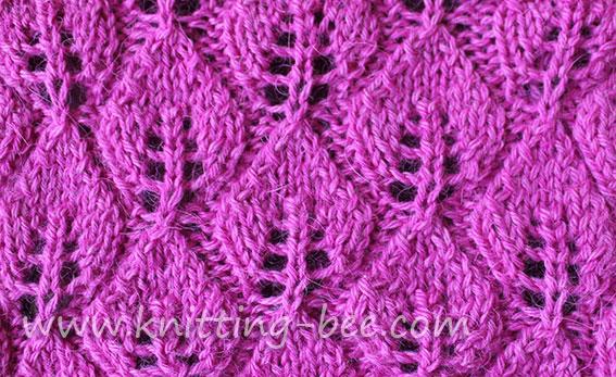 Leaves of Lace free knitting stitch pattern