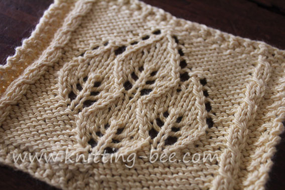 Four Leaf Lace Panel Knitting Bee