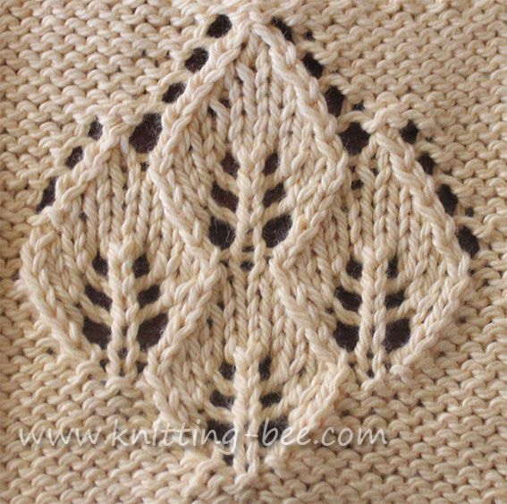 Knitted Leaf Pattern : Leaf Lace Knitting Patterns Car Interior Design