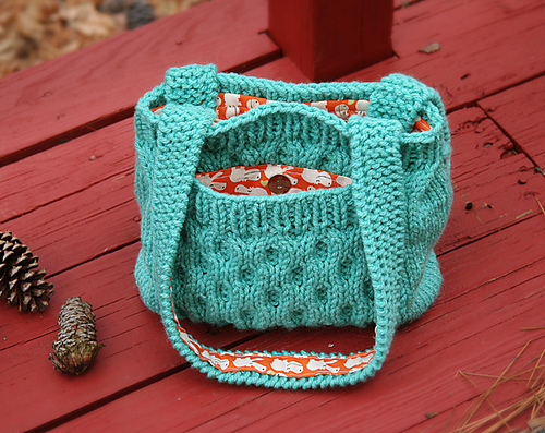 knitted handbag honeycomb