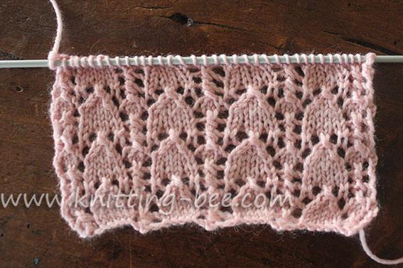Snowdrop Stitch Knitting Pattern 1 Knitting Bee