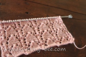 Snowdrop Lace Stitch Knitting Pattern