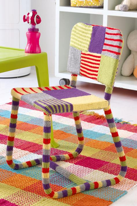 yarn covered furniture
