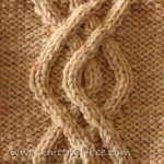 Double Super Imposed Cable Knitting Pattern