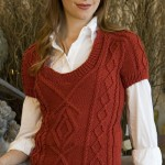 free cable vest pattern knitting