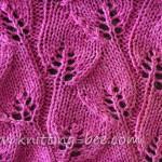 Trailing Leaves Knitting Stitch Pattern