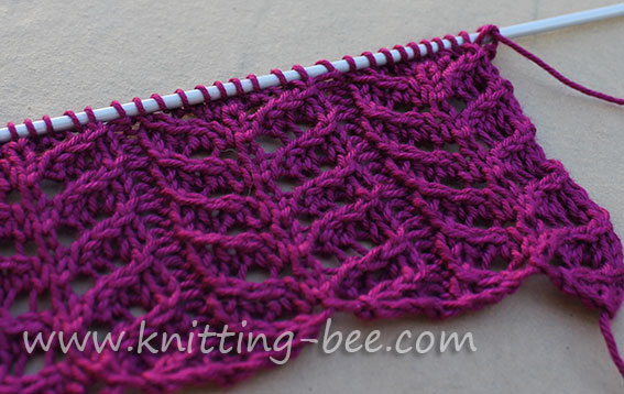 Knitting Pattern Lace Design : lace-branches-knitting-stitch-pattern-1 ? Knitting Bee