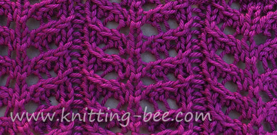 Free Branch Lace Knitting Stitch Pattern